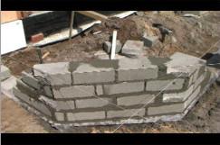 Bloczki betonowe.