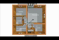Ścianki działowe - rzut - model 3d